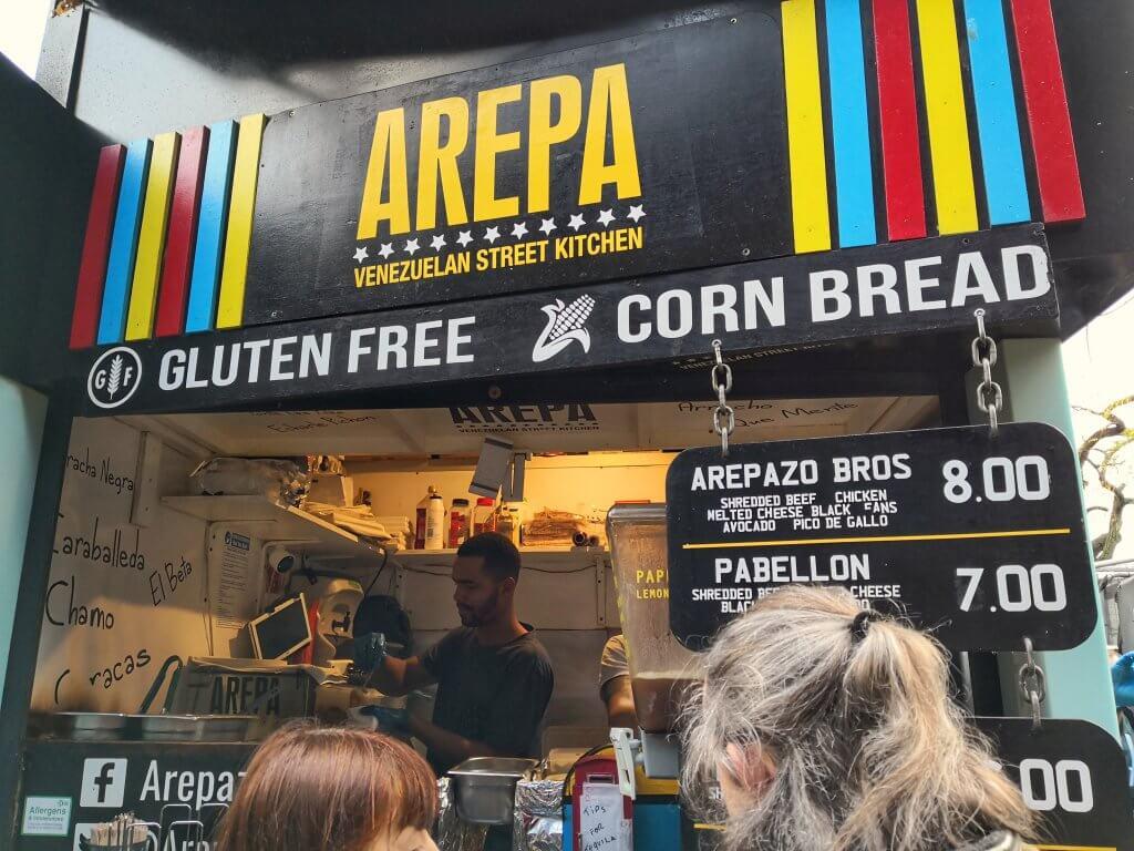Londyn - Camden Market - Arepa Bros